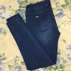 Celebrity pink skinny jeans size 9